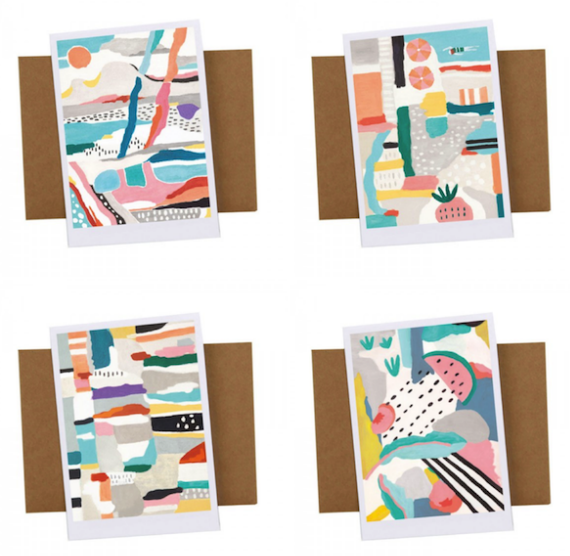 colorful Swedish inspired notecards #stationary #swedish