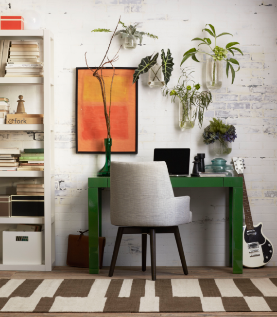 green parsons desk - West Elm