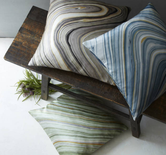 marbled throw pillows - West Elm