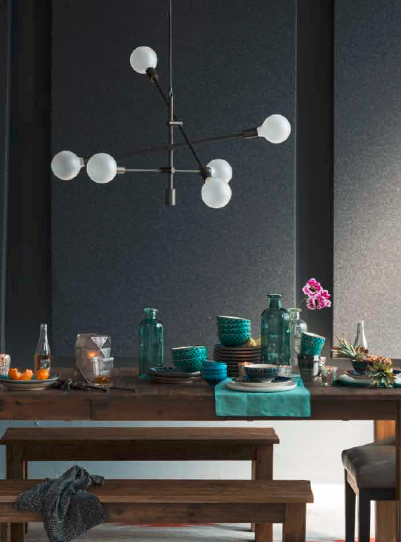 mobile exposed bulb chandelier - West Elm