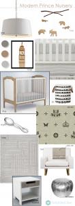 modern prince nursery room design board - Simplified Bee