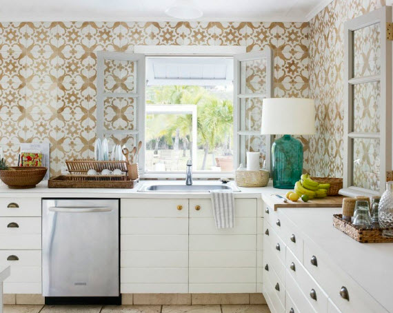 Tom Scheerer Decorates - kitchen with Cuban tiles