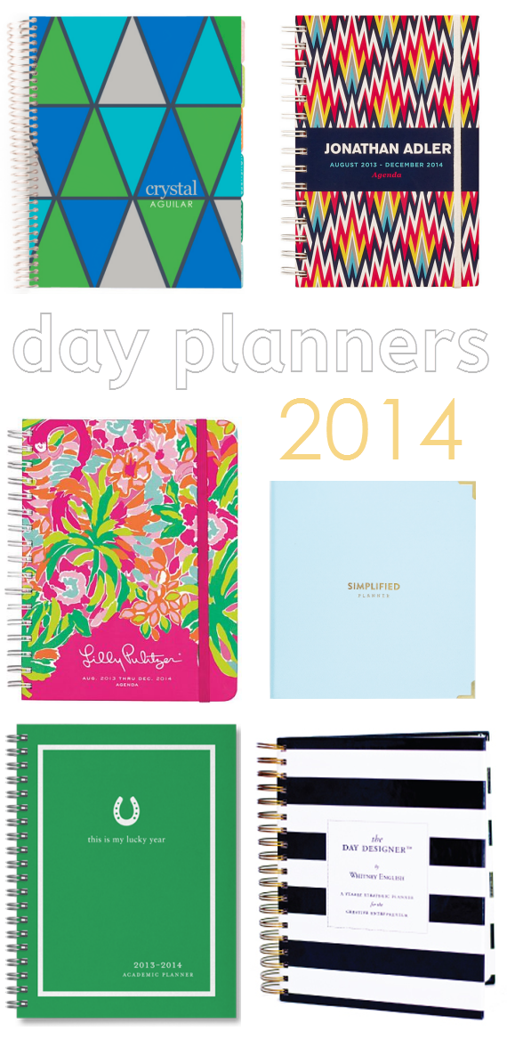 Stylish Daily Planners for 2014