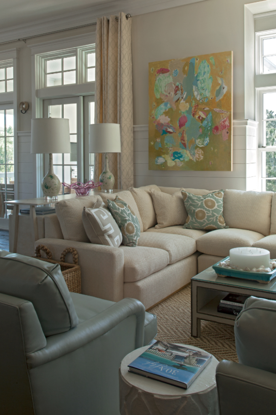 coastal chic living room