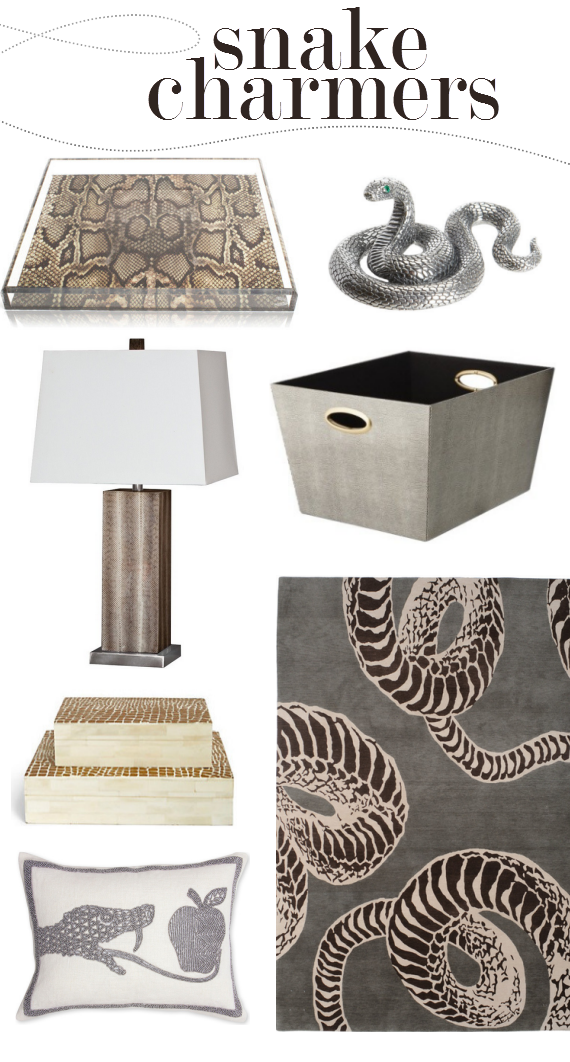 snakeskin home decor trend