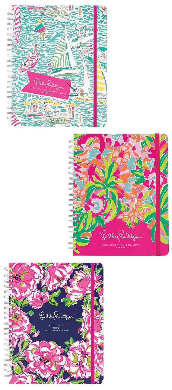 Colorful Daily Planners by Lilly Pulitzer 2014