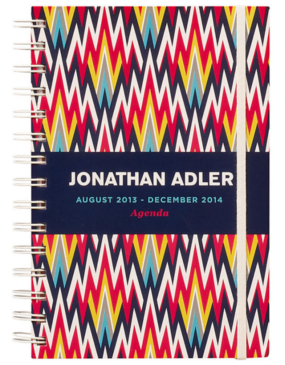 stylish daily planner 2014 // zig zag pattern by Jonathan Adler