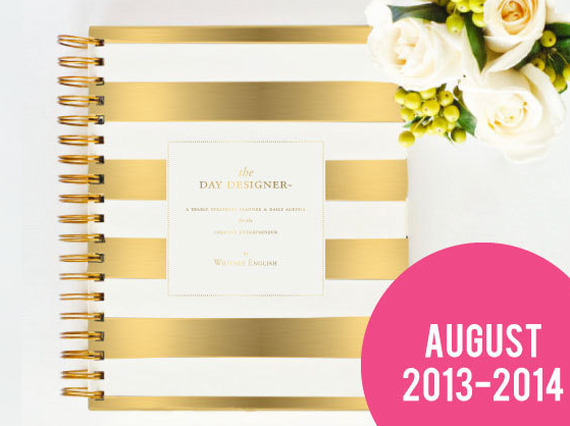 Stylish Day Planner 2014 // Gold Stripes