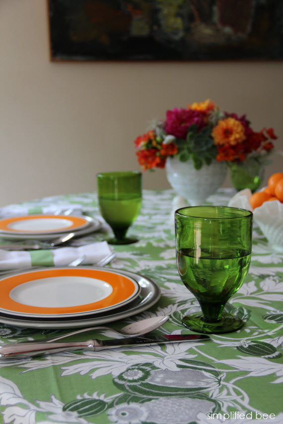 summer entertaining tablescape - Simplified Bee