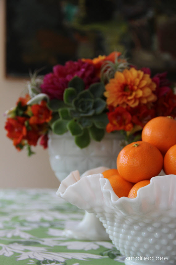 tangerines and flowers - simplifiedbee.com