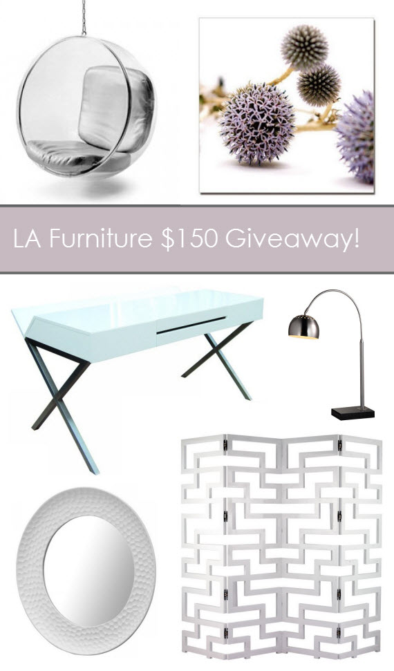 La Furniture Store 150 Gift Card Giveaway