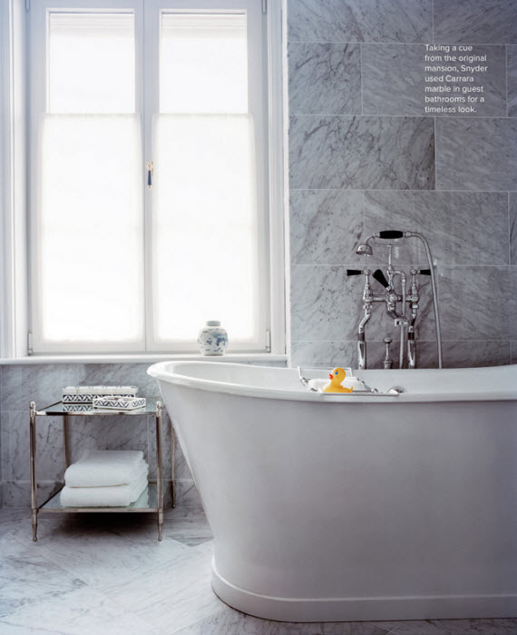 chic marble bathroom tile