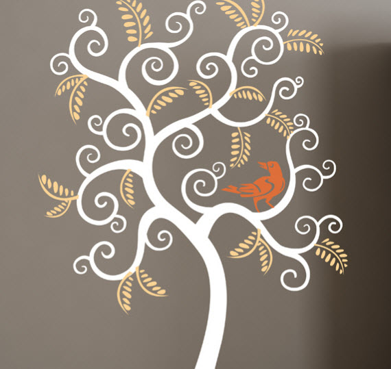 curly tree wall decal - Cherry Walls giveaway and discount
