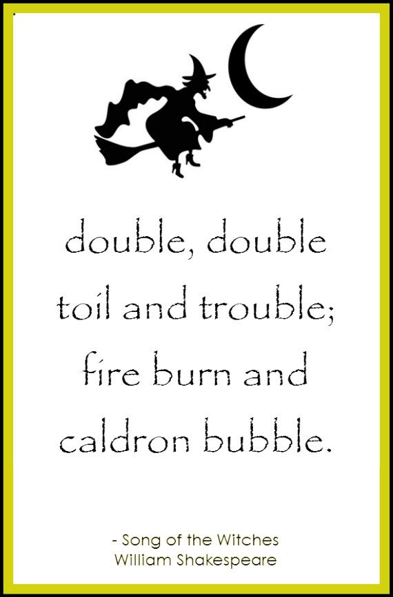 double double toil and trouble - witches song