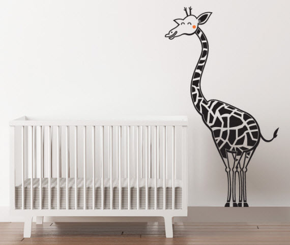giraffe wall decal for kids bedroom