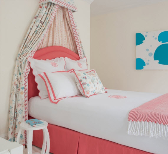 girls bed canopy - Kerry Hanson Design