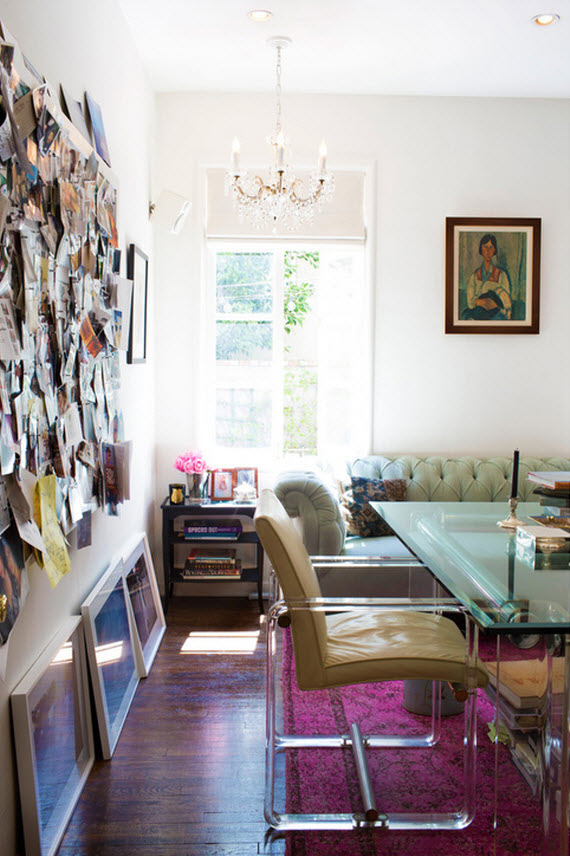 lucite chair - home office