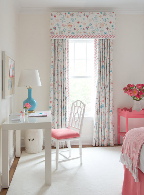 pink and turquoise girl's bedroom - kerry hanson design