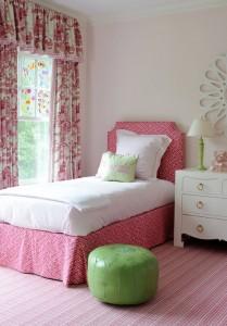 pink little girls bedroom - Kerry Hanson Design