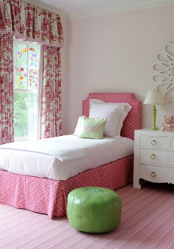 pink little girls bedroom - Kerry Hanson Design