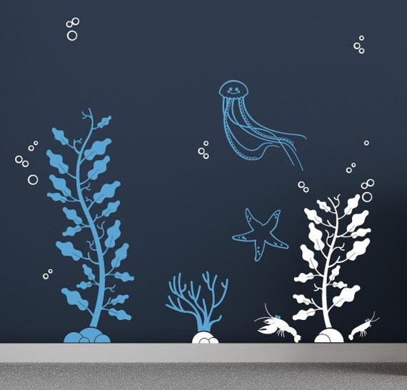 sea life wall decals for nursery rooms