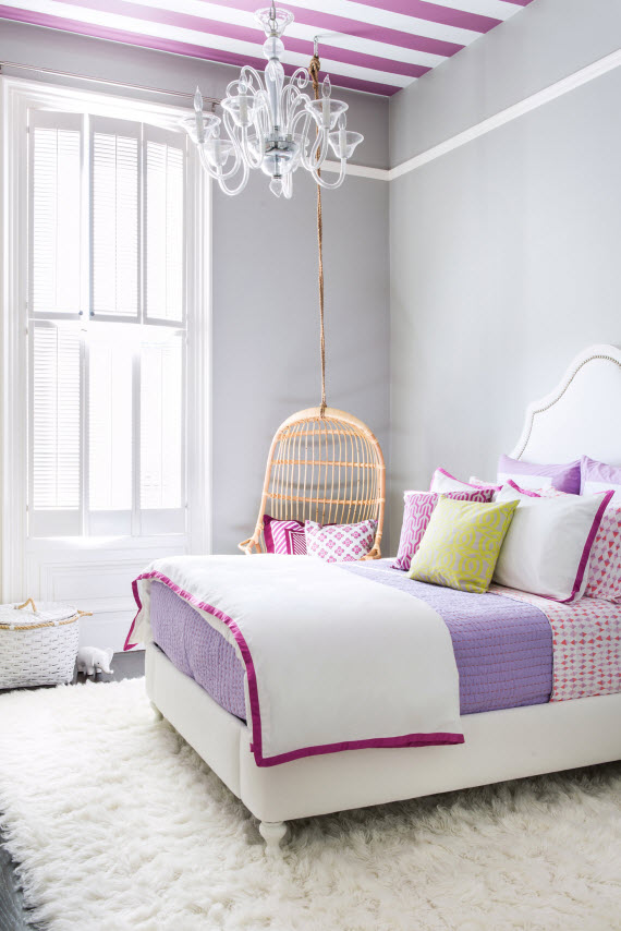 teen girls bedroom room plum and purple