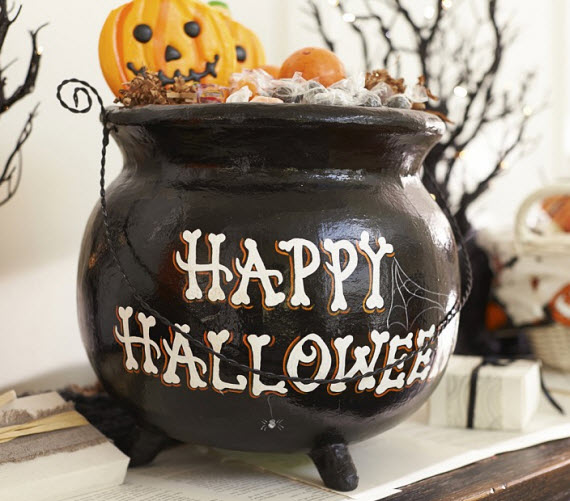 witches cauldron treat pot - Halloween