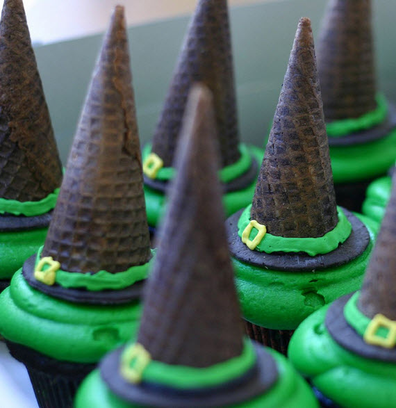 witches hat cupcakes - cupcakelady