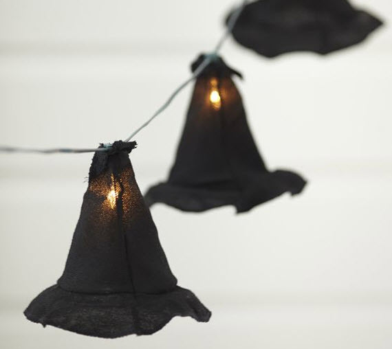 witches hats - string lights #halloween