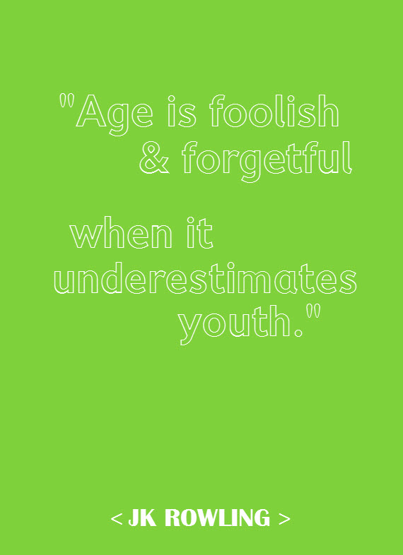 youth quote - jk rowling