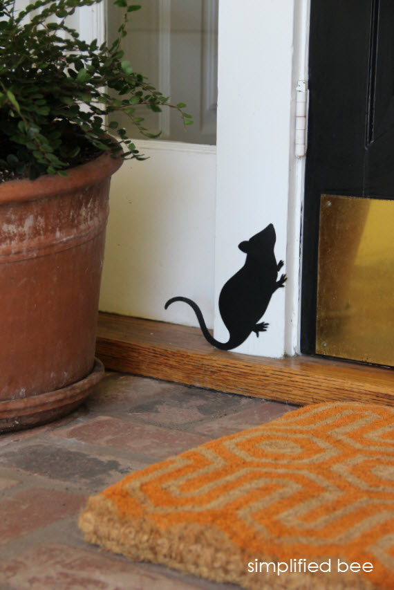 Halloween Front Door with Rats - Simplified Bee