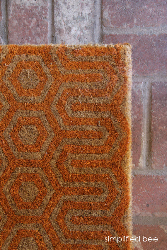Orange Geometric Doormat for Fall