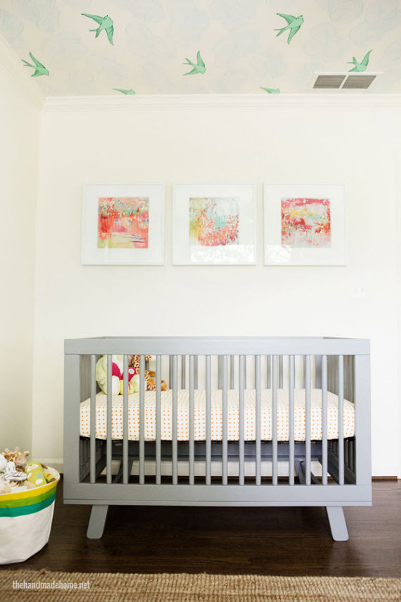 modern + gray crib // nursery rom