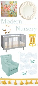 modern, gender neutral nursery design