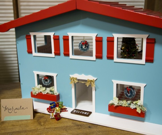 The Land of Nod Cottage Dollhouse - Christmas Decor