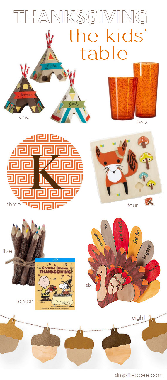 Thanksgiving Kids Table Ideas - Simplified Bee