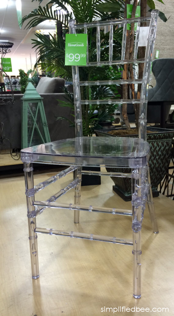 acrylic bamboo style chair #thegifter