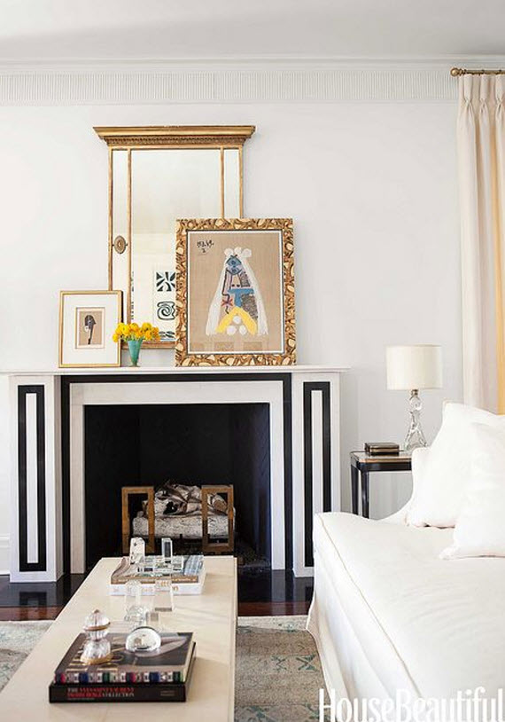 Black and white fireplace suzanne kasler simplified bee - Black and white fireplace ...