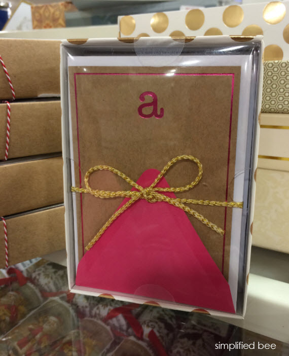 foil initial notecards #thegifter
