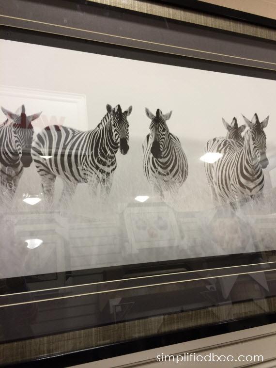 large-scale zebra art #thegifter