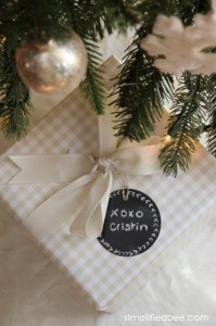 reusable chalkboard gift labels - Simplified Bee #labels