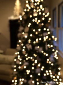 twinkle light Christmas tree - Simplified Bee