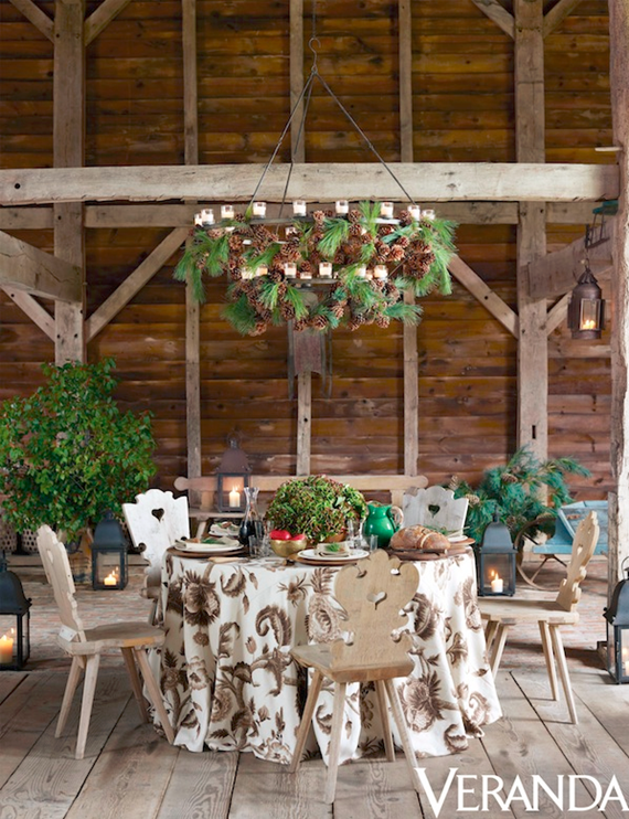Aerin Lauder // woodland chic tabletop