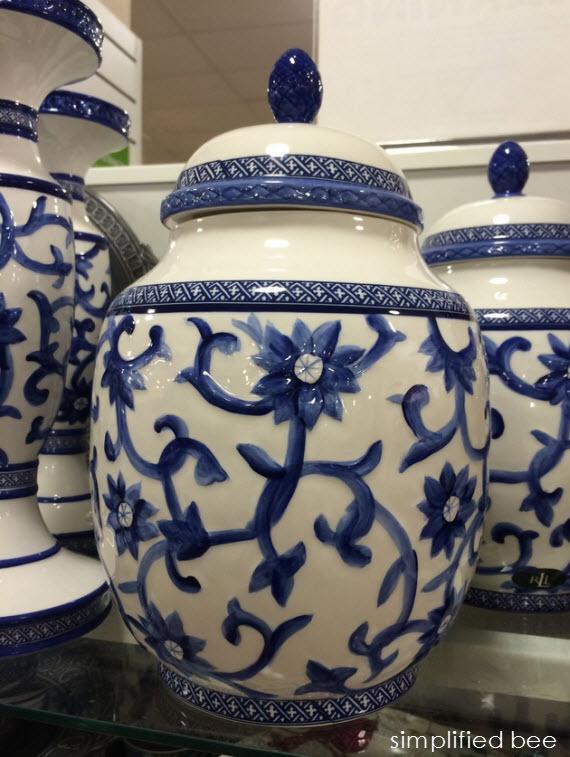 blue & white ginger jars #thegifter