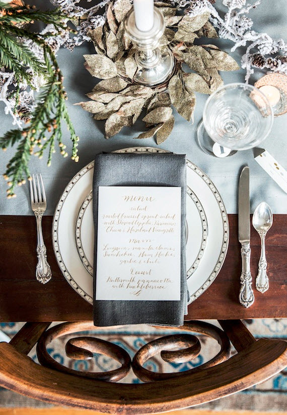 elegant christmas table setting - sacramento street