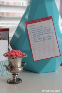 pink and turquoise desk accessories - simplified bee