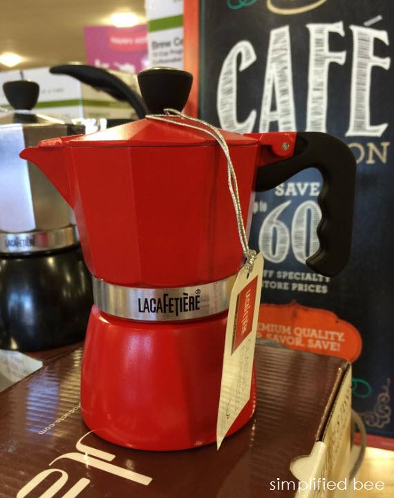 red espresso 3 cup - gift idea