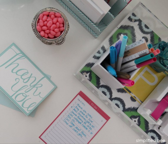 stylish desk organization and accessories - simplified bee + see jane work