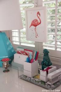 stylish desk organization - simplified bee + see jane work