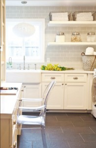 white and gray laundry room design